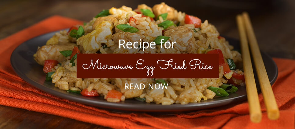 Microwave egg fried rice recipe